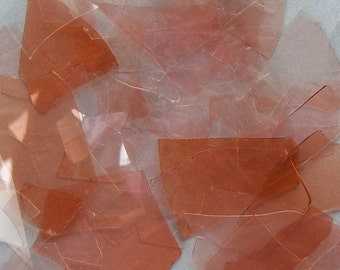 Salmon Pink Shards/Confetti Glass 96 Coe