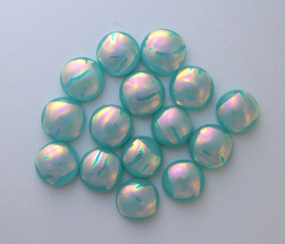 Dichroic Fused Glass, Cabochon, Fused Glass Cabcohon,  Mini Cabs 6495
