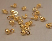 Gold-plated bead tip, side clamp, 6.5x4mm, 50 pieces (234FD)