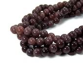 Purple Aventurine 8mm round beads, natural gemstone, full & half strands available  (452S)