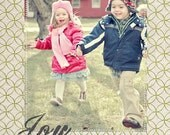 Joy - Digital Holiday Photo Card, earthy tones