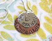 Celebrate Family Custom ID Copper and Sterling Silver Tag Necklace