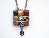 Black and Red Paper Eco Chic Necklace