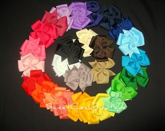Wholesale hair bows, lot of 100 hair bows, YOU CHOOSE colors