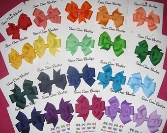 Basic Bows-Pinwheels-Wholesale Lot of 50-Choose your Colors