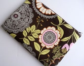 11 Inch MacBook Air Sleeve, ChromeBook Sleeve, Microsoft Surface Sleeve - Fits 11 Inch Laptop Sleeve - Amy Butler Lacework in Brown