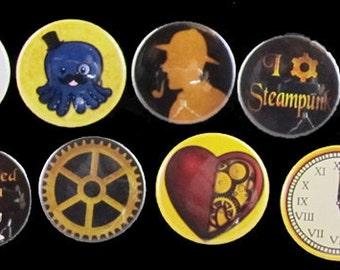 Steampunk button set