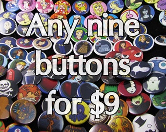 Any nine buttons