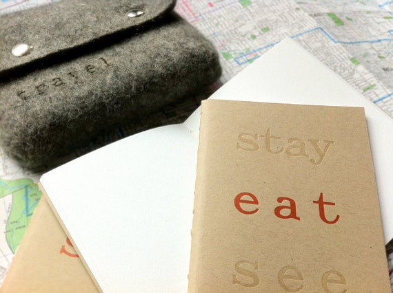 Letterpress Travel Journal with Case