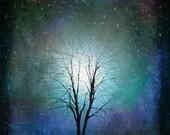 Starry Starry Night -- gifts-tree art print giclee print, art, tree art,print,gift,art collectibles,wall art,wall decor,wall decor