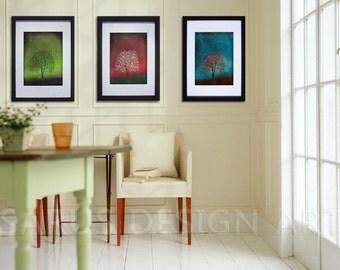 Gem Tree Series--Set of Three--8x10