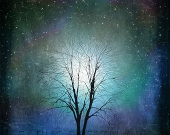 Starry Starry Night -- gifts-tree art print giclee print, art, tree art,print,gift,art collectibles,wall art,wall decor,wall decor