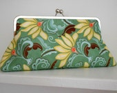 Sale - Floral Crossbody Clutch Fabric Crossbody Bag Crossbody Handbag Crossbody Purse  Floral Clutch Gifts for Her Gifts Under 50