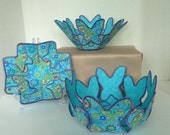 Spring butterfly fabric bowl set original design
