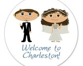 Personalized Wedding Welcome Bag Stickers