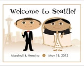 City Skyline Wedding Welcome Bag Notes, Wedding Welcome Letter, Wedding Guest Bag Letter, Wedding Welcome Basket Notes