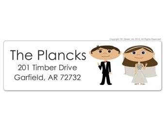 Wedding Address Labels, Wedding Return Address Labels, Custom Address Labels, Custom Wedding Label, Custom Cartoon, Wedding Stickers
