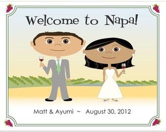 Vineyard Wedding Welcome Bag Notes, Winery Wedding, Wedding Welcome Note, Welcome Bag Letter, Wedding Agenda, Wedding Welcome Letter