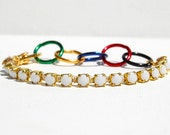 Olympic Bracelet Rhinestone Bracelet with Olympic Colors