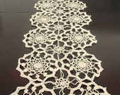 Homedecor Wedding Table Runner Ecru