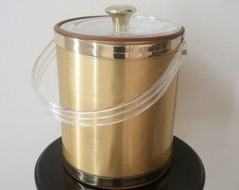 Gold Vintage Ice/Wine Bottle Bucket 1970s Gift