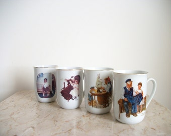 Vintage Cups and Utensils Norman Rockwell Collection