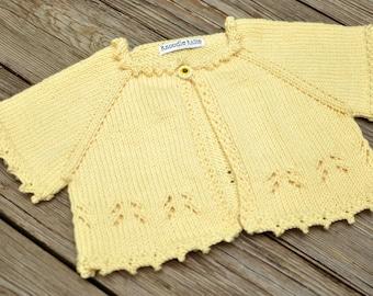 Baby Sweater, Toddler Shrug, Summer, Sunflower, Girl Sweater, Cardigan