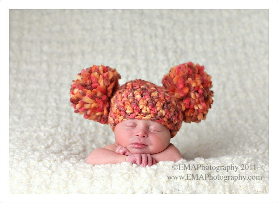 Crochet Baby Hat Pattern With Pom Pom : Unavailable Listing on Etsy
