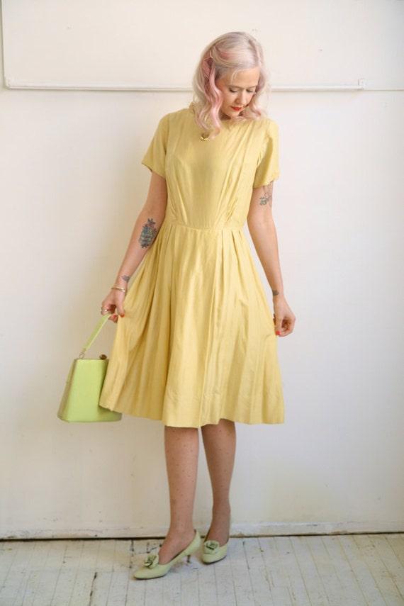 1950s Dress // Sun Silk // Vintage 1950s Dress // Large