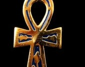"Egyptian Enameled Ankh "" Life key "" Necklace halloween"