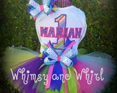 Custom Boutique Style Personalized 1st, 2nd, 3rd, 4th, 5th Birthday SEWN Tutu Outfit You CHOOSE COLORS