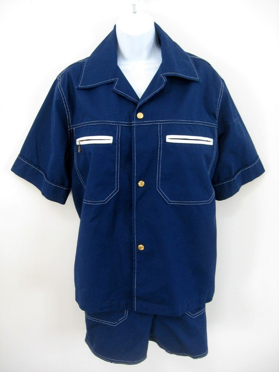 vintage 1950s state o maine mens pool shirt size large and
