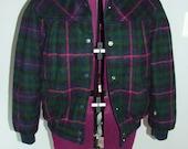 SALE•LAST CHANCE• 80s Plaid reversible winter coat