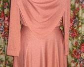 SUPER SALE 70s Peach Dress
