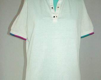 1980s Tail tennis shirt