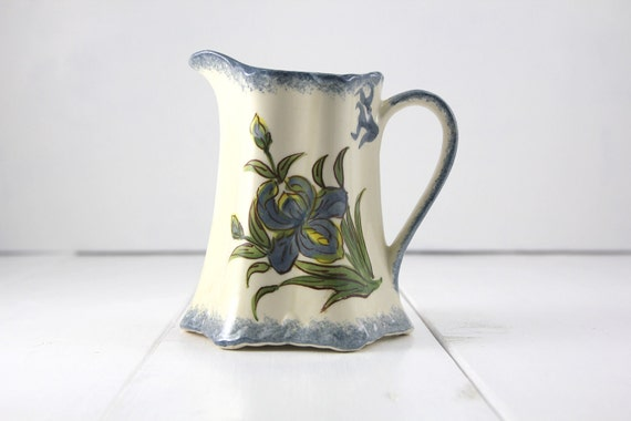 Vintage Clinchfield Artware Pottery Buttermilk Pitcher  - Hand Painted by the Cash Family