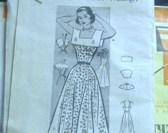 Vintage 50s Mail Order Pattern 3891 Swing Dress and Bolero 3891 Size 12