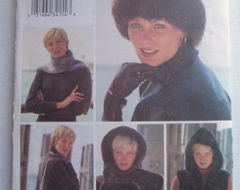 Butterick Pattern 3311 Womens Hats Headwrap Headband Scarf Bag and Vest Uncut