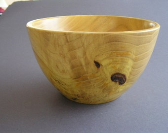 Golden yellow Mulberry burl bowl.