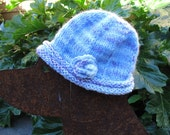 Baby Blue Handknit Cloche or Beanie for a Sweet Baby