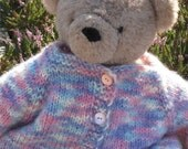 Toddler Handknit Cardigan in Pink, Lavender, Cream and Blue