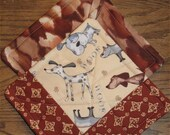 Woof Patchwork Potholders -- 1 set available