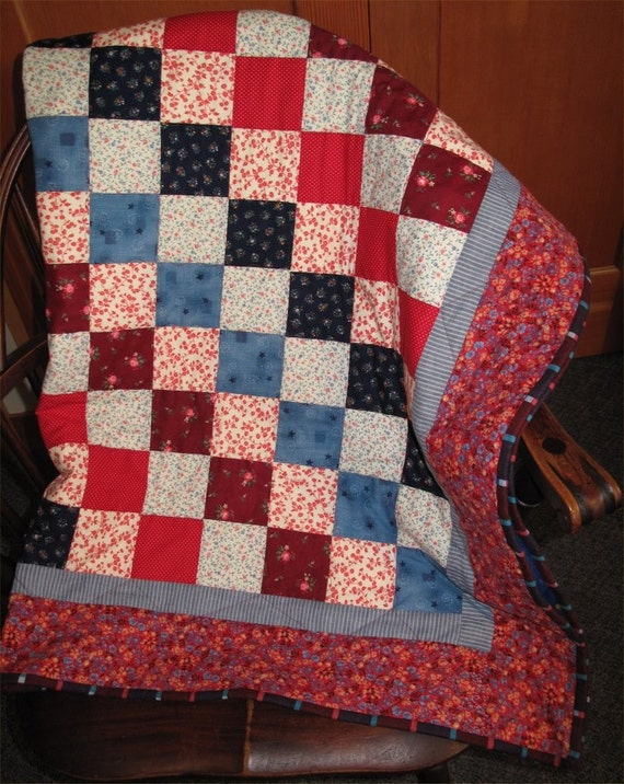 Yankee Doodle Quilt Small Quilt