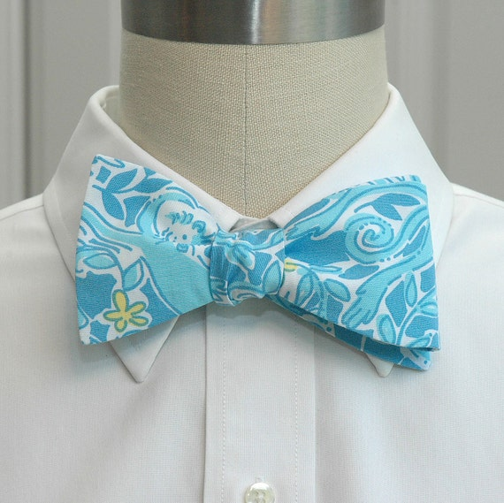 Lilly Bow Tie in blue Kiss the cook (self-tie)