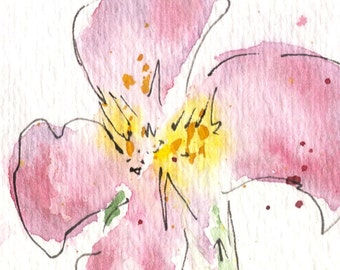 Wild Rose - Watercolor Print