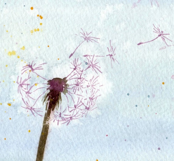 Seeds in the Sky - Watercolor Print