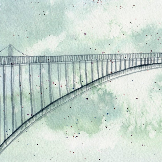 Crossing in the Sky - Limited Edition Watercolor Print