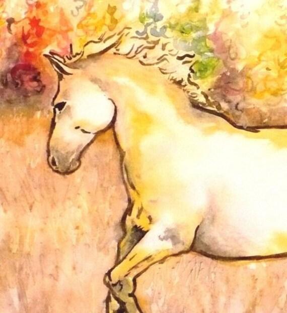 Fall Run - Watercolor Print