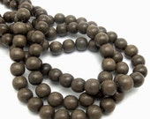 Graywood, Round, 10mm, Smooth, Natural Wood Beads, Full strand, 40pcs - ID 1041