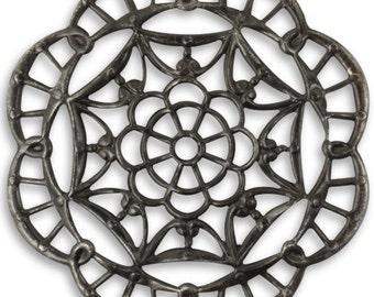 Vintaj Arte Metal Embellishment, Grand Kaleidoscope Filigree, 40mm, Large, Natural Brass, 1pc - Vintaj Item AP0015 - ID 512